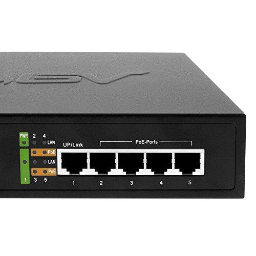 Bv Tech 5 Port Poe Switch 4 Poe Ports 1 Uplink Port