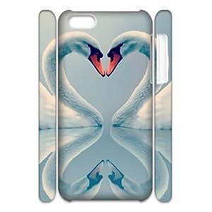 LZHCASE Design Diy hard Case Swan For Iphone 4/4s [Pattern-1]