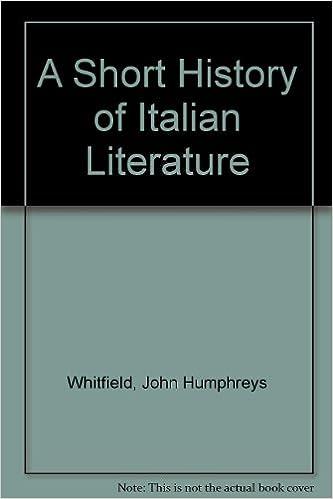 Short History of Italian Literature