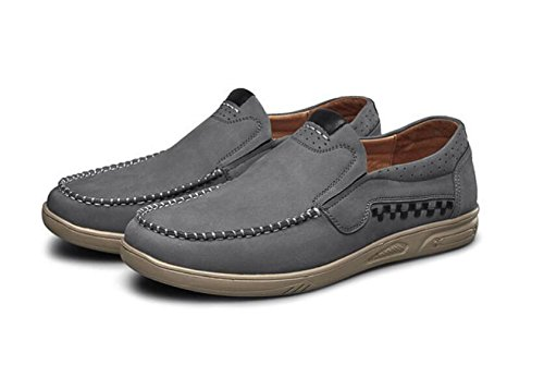 Antideslizantes Para Cuero Ocasionales Oxford Cuero Oxfords Hombres Para De Deportivos Grey Hombres Zapatos De Zapatos Hombre Para Zapatos MUYII IE6wqZFnSx