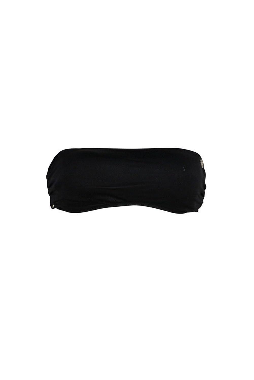 Bandeau Bikini mit Bändern Lace in Schwarz (Oberteil)