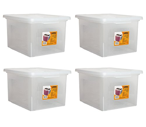 (Lorell LLR68925 Letter/Legal Plastic File Box (4 PACK SAVINGS))