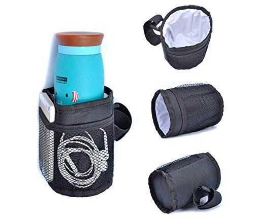 (Pawaca Multifunctional Waterproof Thermal Insulated Bottle Holder Pocket Organizer for Baby Strollers, Shopping Carts, Wheelchairs, Bikes)