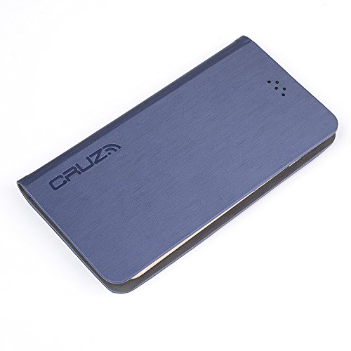 Cruz Quantum Slider Case Medium Size Phones | Max RFID & Radiation Protection Blocking (Blue Rush) by Cruc Cases