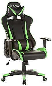 Merax Racing Gaming High-Back Chair Computer Ergonomic Design Computer Chair PU Leather Office Chair (green)