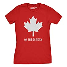 Women's Canada On the Eh Team T-Shirt Funny Canadian Shirts XL