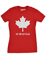 Women's Canada On the Eh Team T-Shirt Funny Canadian Shirts S