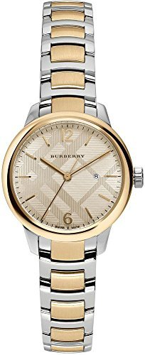 Burberry 2 Piece (Burberry Women's Swiss The Classic Round Two-Tone Stainless Steel Bracelet Timepiece 32mm BU10118)