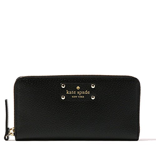 Kate Spade Black Neda Wellesley Leather Zip Around Wallet
