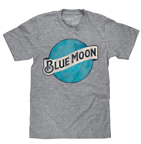Tee Luv Blue Moon T-Shirt - Blue Moon Brewing Company Beer Logo Shirt (MD)