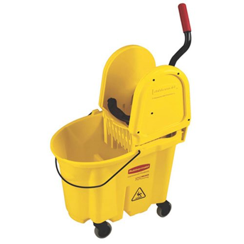 Rubbermaid Commercial 7577-88 WaveBrake 35-Quart Bucket/Wringer Combo, Yellow by Rubbermaid Commercial Products