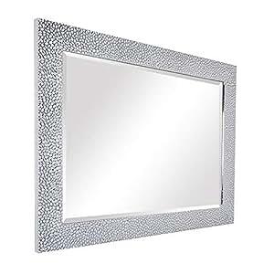 Yanzedian espejo pared del ba o montado espejo de vanidad - Espejos marco plateado ...