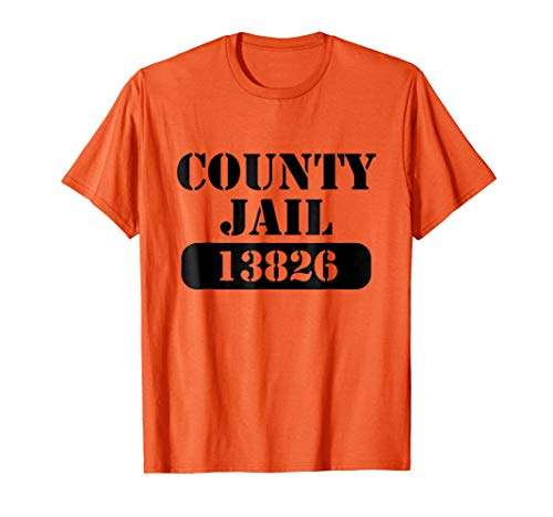 County Jail 13826 Halloween Costume T-Shirt Prisoner Outfit
