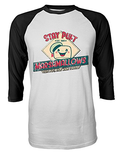 Adults Stay Puft Marshmallows Ad Baseball Shirt, S to 2XL