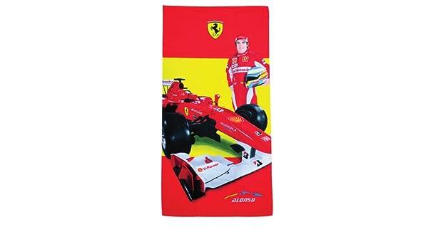 Ferrari rojo Fernando Alonso coche toalla: Amazon.es: Deportes y aire libre
