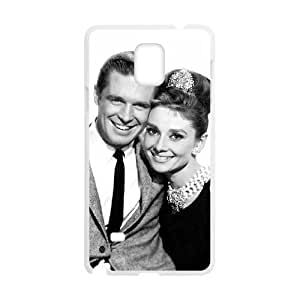 Audrey Hepburn Unique Design Cover Case with Hard Shell Protection for Samsung Galaxy Note 4 Case lxa#335243