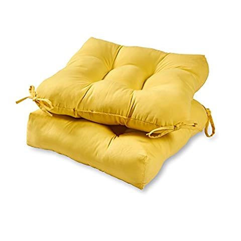 Greendale Home Fashions 20-inch Outdoor Chair Cushion (set of 2), Sunbeam (Indoor Chaise Chair Cover)