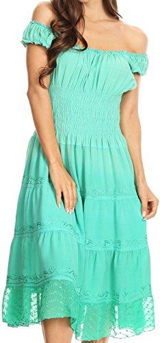 Spring Spring Maiden Green Sakkas Peasant Ombre Dress dAPOxq