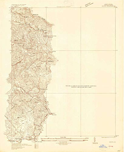 YellowMaps Boone NC topo map, 1:24000 Scale, 7.5 X 7.5 Minute, Historical, 1934, 26.9 x 22 in - Polypropylene (Map Of Boone And Blowing Rock Nc)