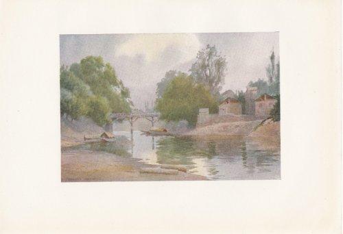 Bridge of Burbur Shah, Chenar Bagh, Srinagar - Kashmir - Vintage Print 1911