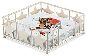Navidad Robin trineo trineo invierno 20x 3capas servilletas de papel & Star servilletero Set