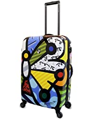 Heys USA Luggage Britto Butterfly 26 Inch Hard Side Suitcase, Multi-Colored, One Size