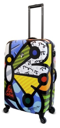 Price comparison product image Heys USA Luggage Britto Butterfly 26 Inch Hard Side Suitcase, Multi-Colored, One Size