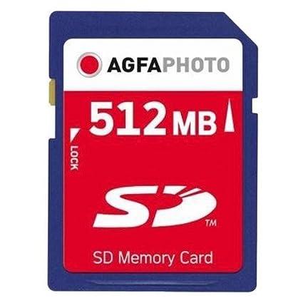 AgfaPhoto 10401 - Tarjeta de Memoria (SD, 512 MB, 7 MB/s), Azul