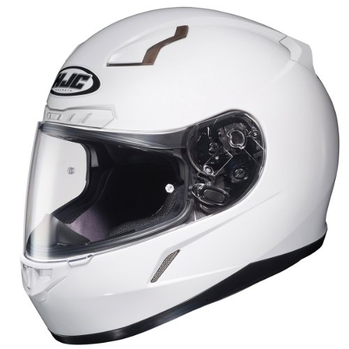 HJC CL-17 Solid White Full Face Motorcycle Helmet - Large
