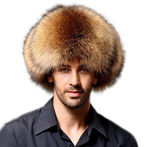 Tngan Mens Winter Thick Faux Fur Bomber Hat Russian Warm Soft Earmuff Hats - Faux Bomber Fur Mens