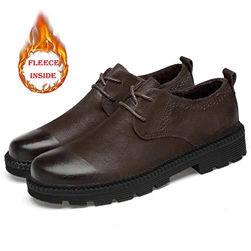 Fondo in casual formali Dimensione shoes Color 2018 Scarpe Business tonda Warm da uomo Abiti Warm Uomo spesso Testa pelle Pelle Jiuyue Black normale da lavoro Cotone calde 40 Scarpe Brown EU Oxford z6HwnPdxpq