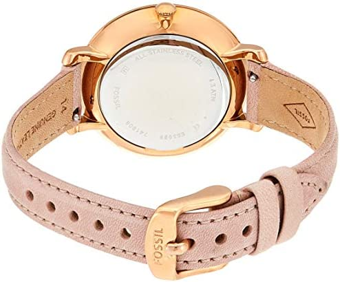 Fossil Women Jacqueline Stainless Steel and Leather Casual Quartz Watch WeeklyReviewer