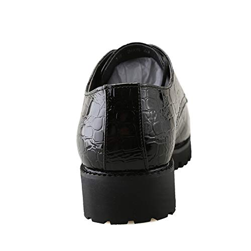 À chaussures Bas De Décontractées Cricket Lan Wai Shuo Crocodile color Noir Oxford 43 Et Rayures Taille Formel Eu Noir Hu Chaussures Fines YIwq86F