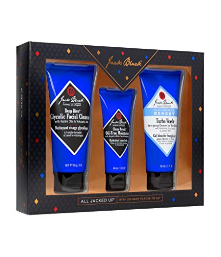41X7ORKIO L - Jack Black - All Jacked Up - Deep Dive Glycolic Facial Cleanser, Clean Break Oil Free Moisturizer, Turbo Wash Energizing Cleanser, 3 Piece Gift Set