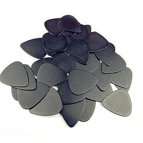 color negro 10 p/úas para guitarra ac/ústica de celuloide de 0,5 mm