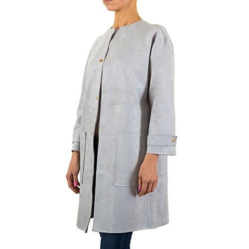 iTaL-dESiGn - Abrigo - trenca - para mujer gris