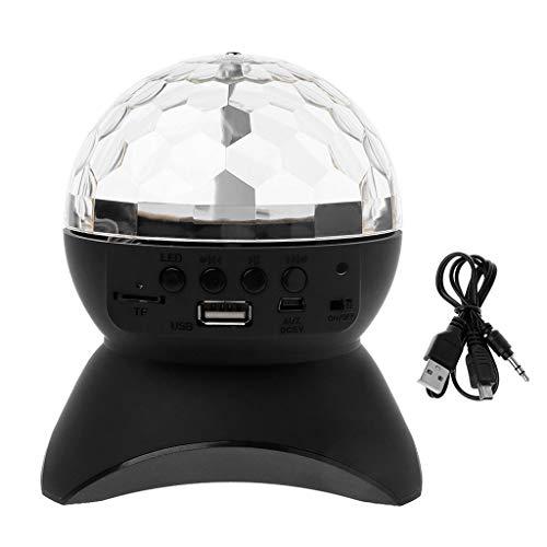 Bluetooth Speaker Wireless Multi-Color Rotating Crystal Ball Stage LED Light USB TF Card AUV FM Radio MP3 Music DJ Disco Party Club Dance Hall