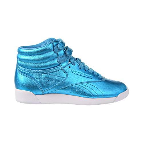 Reebok Womens F/S HI Metallic Feather Blue/White 8.5 ()