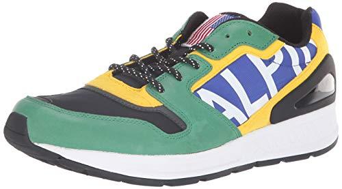 Polo Ralph Lauren Men's TRAIN100 Sneaker, Bright Royal/English Green, 12 D US ()