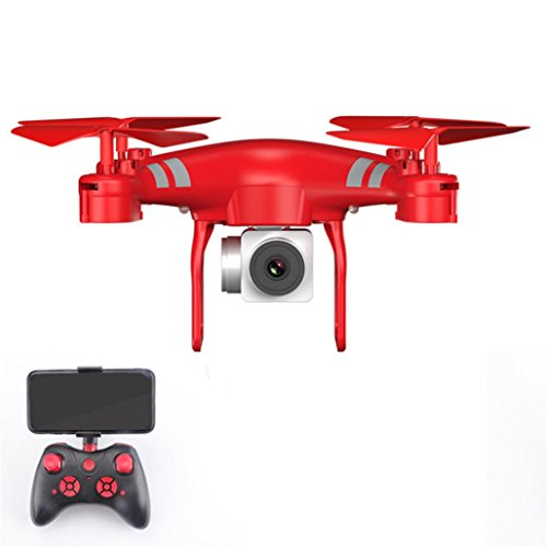 Gbell RC Drone Quadcopter with 1080P HD Camera Wide Angle Lens and WiFi FPV 1800Mah Battery -Best Birthday Halloween Christmas Thanksgiving Day New Year Kids Adults Boys Girls Gifts (Red) by Gbell