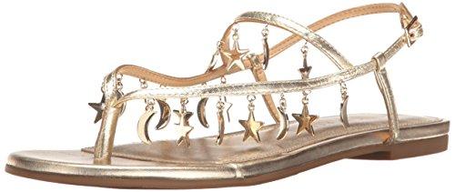 Katy Perry Women's The Celeste Flat Sandal, Gold, 8 Medium US