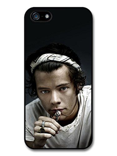 Harry Styles Close Up Chain Ring One Direction 1D hülle für iPhone 5 5S
