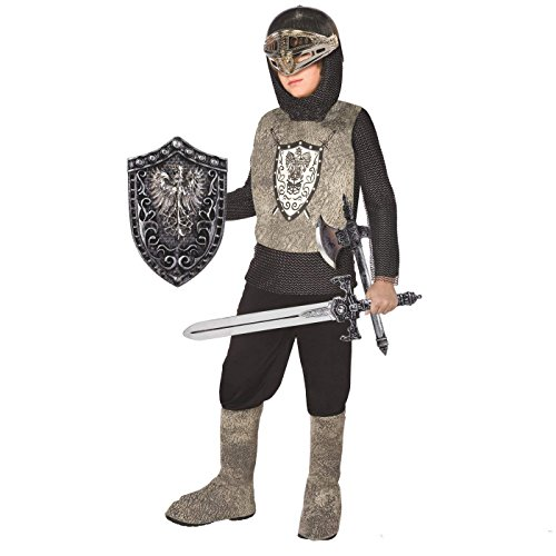 Morph Boys Medieval Knight Costume, Silver, Large ()