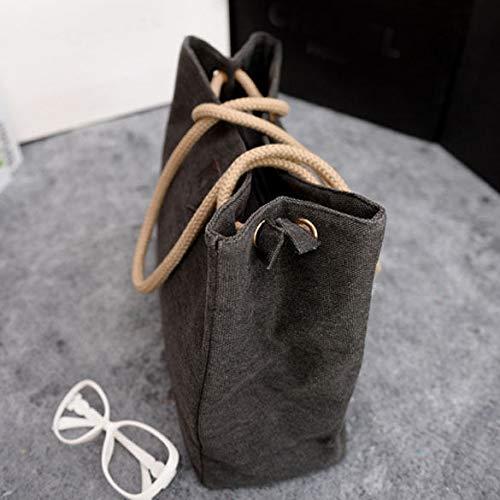 FidgetGear Women Hobo Canvas Shoulder Bag Messenger Purse Satchel Tote Handbag Fashion Black