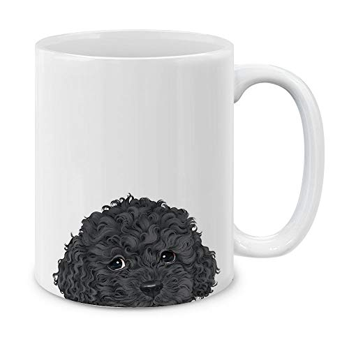 MUGBREW Black Toy Poodle White Ceramic Coffee Mug Tea Cup, 11 OZ ()
