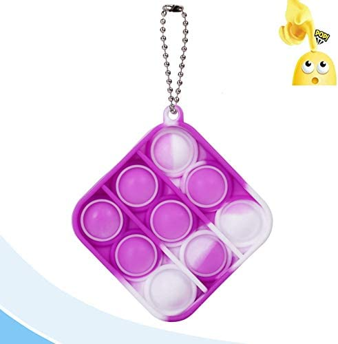 Anti-Anxiety Silicone Squeeze Toy 3pcs Mini Pop Pop Fidget Toy Adult and Child Gift Keychain Toy Push Sensory Toy That relieves Stress