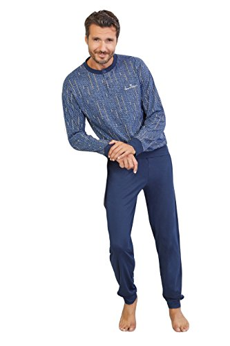 Collo Due Bottoncini Lungo Lunga Pezzi Disponibile Varianti Serafino 100 Colore Articolo Manica Uomo In Pigiama Pantalone Cotone Melange Scatolato Con Homewear Completo E Grigio Maglia wZqnpxC7