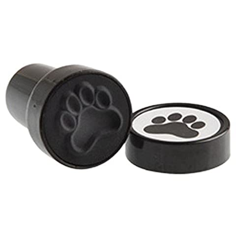 US Toy Black Dog Puppy Paw Print Mini Stampers (Lot of 6) - Picture Paw Print