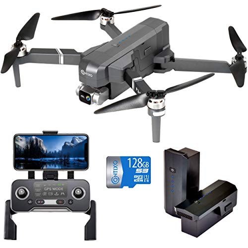 4K UHD Drone with GPS for Adult and Kids 2-Axis Self stabilizing Gimbal, Best Back to School Gift for Kids, 2 Batteries…