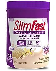 Slimfast Diabetic Weight Loss - Vanilla Milkshake Mix - 10g of Protein - 12.8oz - Pantry Friendly